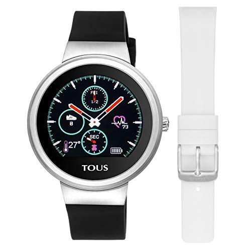 TOUS Reloj Activity Rond Touch de Acero con Correa de Silicona Intercambiable