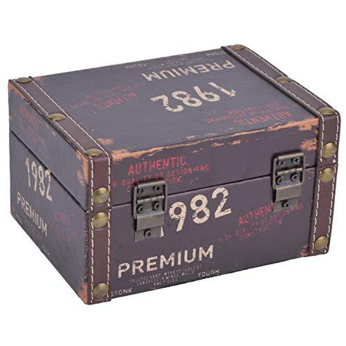 Pulido de superficie lisa, protección del medio ambiente, tamaño grande, madera, caja de almacenamiento de madera, para joyería para collar(Model 2208A-03-1982, blue)