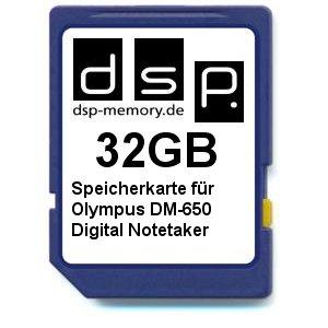 32GB Speicherkarte für Olympus DM-650 Digital Notetaker