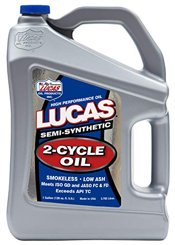 Lucas Oil 10115 Semi-Synthetic 2-Cycle Oil - 1 Gallon Jug