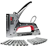 Staple Gun NEU MASTER, Light Duty Stapler Kit Come with 1600 pcs 5/16,3/8 inch JT21 Staple Strip, All Steel Tacker for General Repairs, Crafts, Upholstery, Decorating.