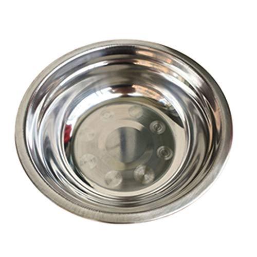 1 UNID Tazón de mezcla de acero inoxidable para la cocina Boll Restaurante Cena Sopa Inmoxidable Inox Coreano Rice Bowl Bol 6 Tamaños 14-24cm Regalos veganos ecológicos (Color : 20cm)