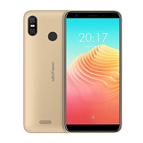 Ulefone S9 Pro smartphone libres - 5.5 pulgadas HD + (18: 9 pantalla completa) Android 8.1 Móviles 4G, súper delgado, MTK6739 Quad Core 2GB + 16GB, dual SIM, reconocimiento facial Oro