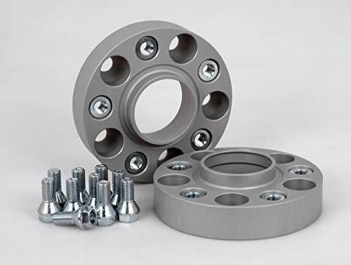 Separadores de ruedas de aluminio, 2 unidades (25 mm por disco, 50 mm por eje), incluye certificado TÜV