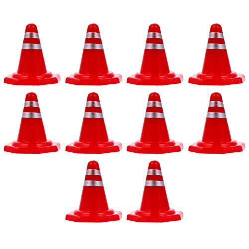 TOYANDONA 10Pcs Señales de Barricada de Tráfico en Miniatura Mesa de Arena Road Conesdiy Señales de Cono de Tráfico Señales de Tráfico de Simulación Señales de Tráfico