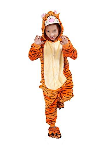 Auspicious Beginning Tigger Kind Schlafanzüge Tier Cosplay Kostüm Baby-Body Sleepsuit Freizeitkleidung Kigurumi Pyjama