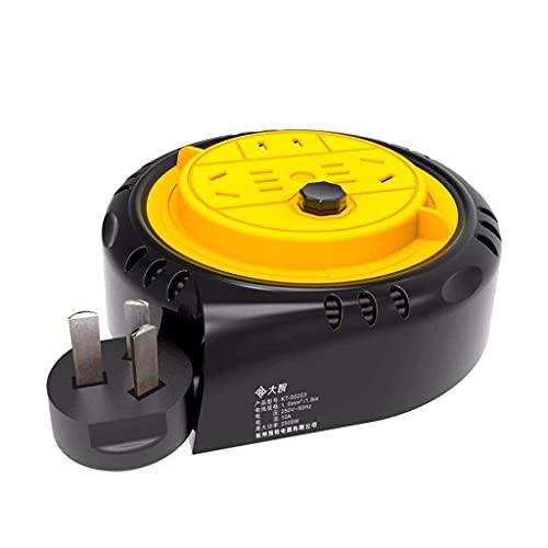 YaLuoUK - Cable de alimentación portátil para el hogar, pequeño carrete de alambre para mover, caracol de regateo, conector de cable alargado, carrete de 1,8 metros