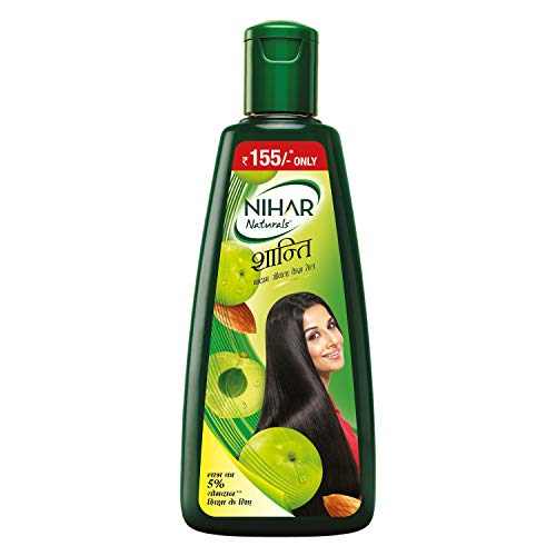 Nihar Shanti Amla and Badam Hair Oil, For Black, Silky and Stronger Hair,500 ml
