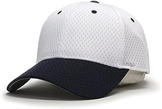Plain Pro Cool Mesh Low Profile Adjustable Baseball Cap (Navy/White)