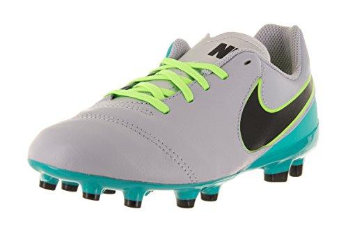 Nike JR Tiempo Legend VI FG, Scarpe da Calcio Bambino, Gris (Wolf Grey/Black-Clear Jade), 37 1/2 EU