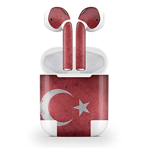 Skins4u Design Aufkleber Schutzfolie Skin kompatibel mit Apple AirPods 2G mit Wireless Case Motiv Türkei Vintage