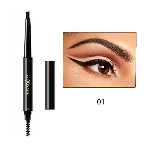 Augenbrauenstift Stereo-Doppelkopf, Feytuo Anti-Schwitzen- und Nicht-Schwindel-Augenbraue