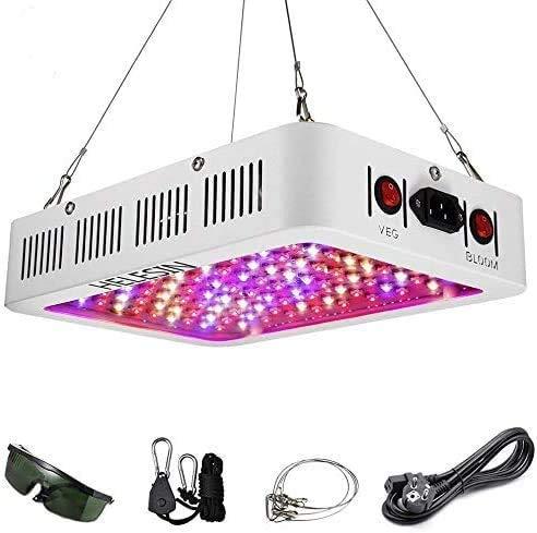 1000W LED Grow Light,LED Pflanzenlampe mit Veg/Bloom Schalter, Vollspektrum Pflanzenlicht mit Daisy Chain Funktion Pflanzenleuchte für Zimmerpflanzen Gemüse und Blume