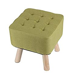 Material-Cover made of natural linen, embedded solid wood offers stability and durability. Ergonomic Design-high bounce sponge,classy design,detailed with solid wood legs, this sturdy stool adds the charm and functionality that you have been looking ...