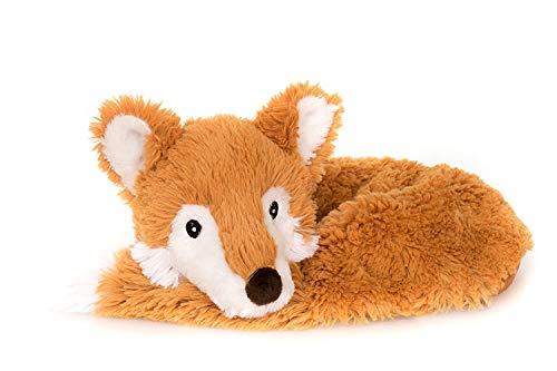 Habibi Plush Premium – 1740 Nackenhörnchen Fuchs, mit herausnehmbarem Körnerkissen - Wärmestofftier/Wärmekissen zum Erwärmen in der Mikrowelle/Backofen