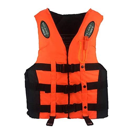 CCCMS Chaleco de Vida Profesional Niños Adultos Reflectante Chaleco Salvavidas Ajustable Chaleco con cinturón de Silbato para Nadar Kayak Snorkel Paddle Boarding-Unisex (Size : XXX-Large)