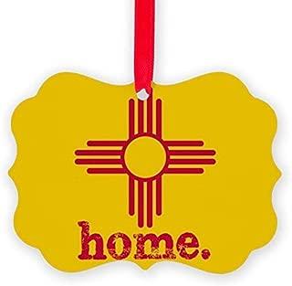 Voicpobo New Mexico Zia Symbol Yellow Acrylic Christmas Ornaments,Christmas Tree Decoration Ornaments,Keepsake Ornament