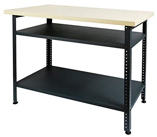 Werkbank Arbeitstisch Werktisch Werkstatttisch Montagewerkbank Packtisch Stahl 120 x 85 x 60 cm