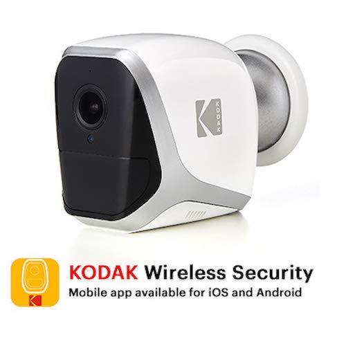 KODAK W101 Cámara de Vigilancia Full HD 1080p - Totalmente Autónoma, Inalámbrica WiFi y Pilas de Larga Duración - Interior / Exterior (4x Pilas LR6 AA)