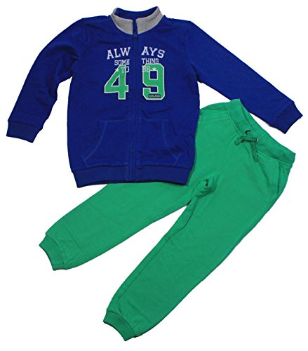 Kanz Basic Jogginganzug Sweatjacke Jogginghose (1636923) True Blue Green Gr. 176