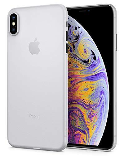 Spigen 065CS24829 Air Skin Schutzhülle Kompatibel mit iPhone XS MAX, Dünn federleicht schlank Case Weiß