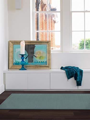 Benuta Wollteppich Uni Türkis 80x150 cm | Naturfaserteppich für Wohnzimmer und Schlafzimmer