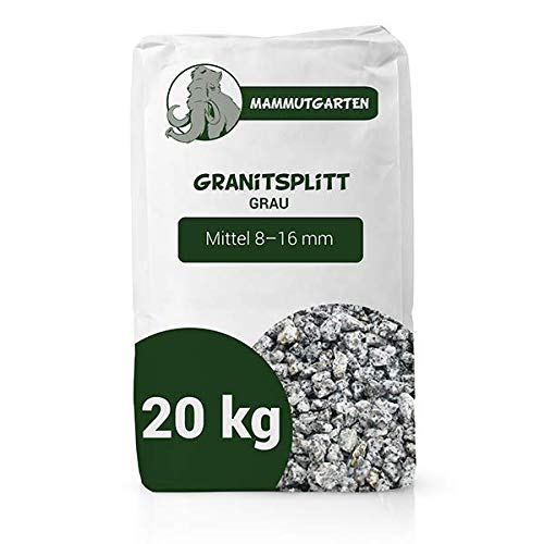 Granitsplitt Deko Granit Splitt Gartenkies Buntkies Grau Fein 8-16mm Sack 20kg