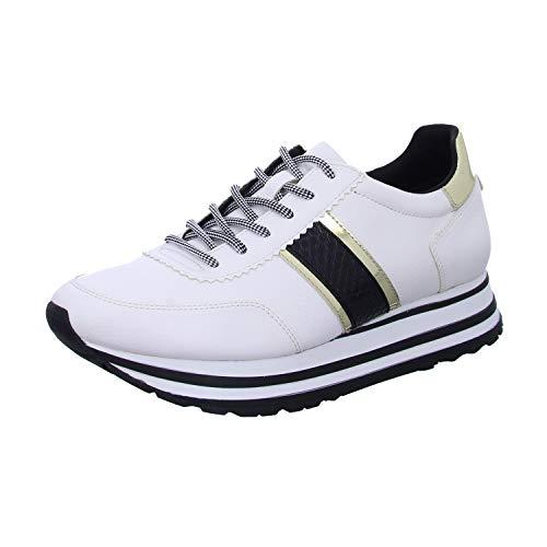 Tamaris Damen Plateau Sneaker Weiß/Schwarz, Schuhgröße:EUR 40