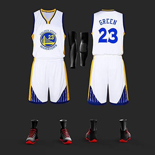 FANS LOVE Camiseta NBA Fan Set Camiseta De Baloncesto Uniforme De Hombres Traje Formación Competencia Camisetas White #23-3XL(166-170)