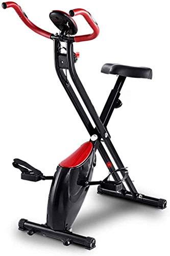 WGFGXQ Bicicleta estática Plegable Cardio Workout Bicicleta Plegable de Interior con Sensor de Pulso de Mano Monitor LCD Gimnasio en casa Capacidad de 100 kg