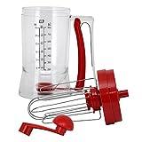 Batedeira de Massa Manual Transparente e Vermelho 800 ml - CF33 - Yangzi