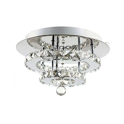 Moderna Lampada a Soffitto in Cristallo Lampadario di cristallo 36W bianca calda, perfetto per corridoio/scala/camera da letto/sala da pranzo