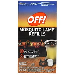 OFF! Mosquito Lamp Refill, 2 Diffusers per Box (Total of 4 Boxes)