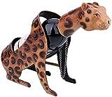 AERVEAL Gato/León/Leopardo Estante de Vino Estante de Metal Escultura de la Escultura de la Escultura Del Vino Decoración Del Hogar Regalo de Navidad, Estados Unidos, Color, Leopardo