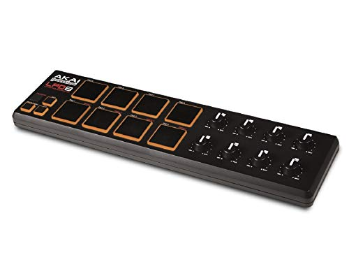 AKAI Professional LPD8 - Portable USB-powered MIDI Controller with 8 Velocity-Sensitive Drum Pads for Laptops (Mac & PC), Editing Software Included