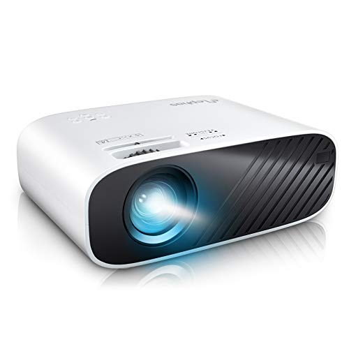 """ELEPHAS2020MiniMovieProjector,5000FullHD1080PVideoProjector,with50,000HoursLEDLampLifeand200""""Display, CompatiblewithUSB/HDMI/VGA/Laptop/iPhone/TVStick/TF Card"""