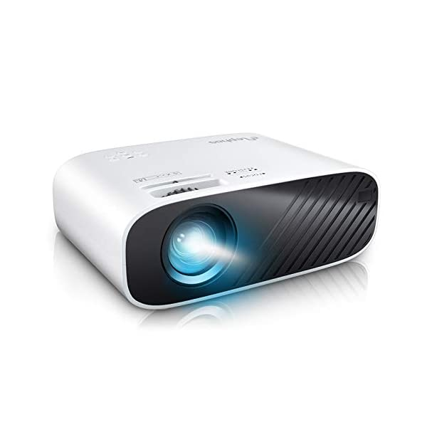ELEPHAS 2020 Mini Movie Projector, 5000 Full HD 1080P Video Projector, with 50, 000 Hours LED Lamp Life and 200″ Display,...