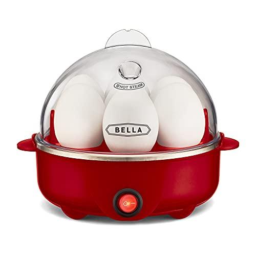 BELLA 17286 Egg Cooker Eierkocher, rot