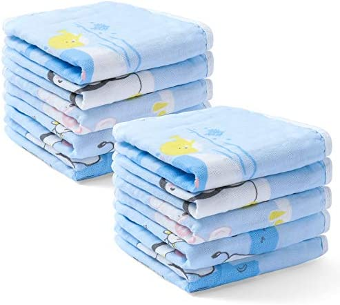 Baby Washcloths Face Towels 100 Cotton Muslin Reusable Baby Wipes for Newborn 12x12in Soft Hand product image