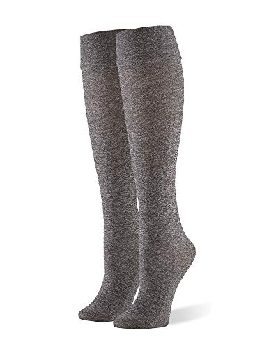 HUE Women's Cushioned Knee High, Graphite Heather, one Size