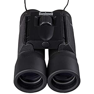 Bushnell Powerview 8x21 Compact Folding Roof Prism Binocular (Black)