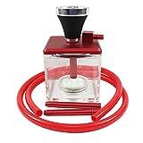 YSSWJ Ysswjzz Juego de Pipas de Agua/cachimba Shisha, Traje de Fumador de Aluminio + acrílico, for Set Completo de Accesorios de Discoteca (Color : Red)