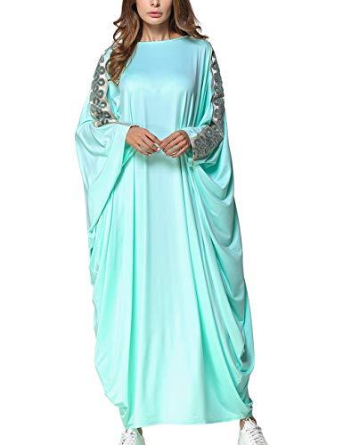 SPDYCESS Frauen Kaftan Muslimische Abaya Elegantes Maxi Kleid - Flügelhülse Dubai Islamische Lange...