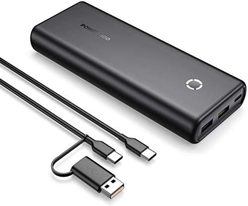 POWERADD Powerbank EnergyCell 20000mAh PD 18W Power Bank Externer Akku mit USB C Anschluss, Tragbares Ladegerät mit Power Delivery, Schnellledefunktion für iPhone Samsung Smartphone-Schwarz