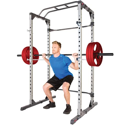 Fitness Reality Squat Rack Power Cage with | Optional Lat Pulldown & Leg Holdown Attachment | Squat and Bench Rack Combos| Super Max 810 XLT |