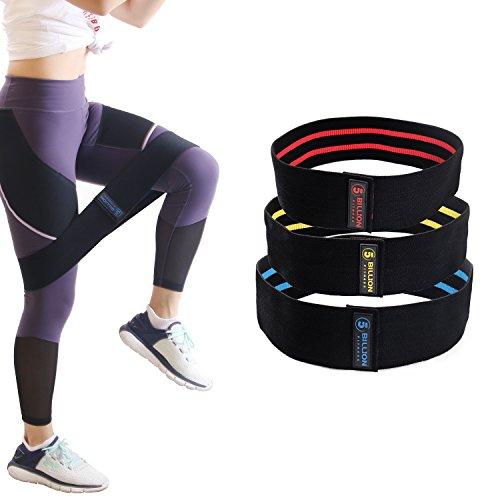 5BILLION Banda elástica de resistencia para la cadera glúteo cadera botín elástico yoga activación antideslizante entrenamiento reparación de lesione suave (Set de 3 )