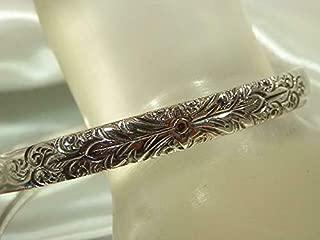 Wonderful Vintage 1980's Whiting Davis Signed Silver Tone Bracelet