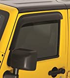 Rampage Products 6816 Smoke Ventvisor for 2007-2018 Jeep Wrangler 2-Door Only