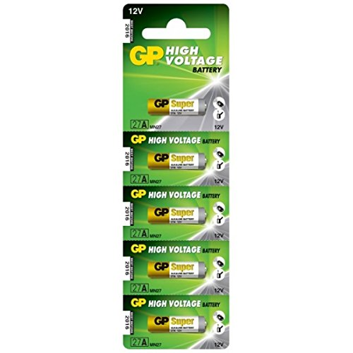 GP Batteries GP27A-C5 Lot de 5 Piles alcalines Haute Tension