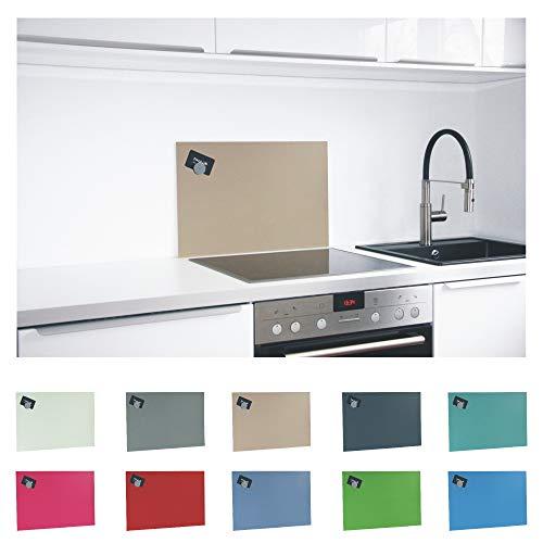 Paulus Spritzschutz Küche Herd Küchenrückwand magnetisch 60x40cm beige, RAL-1019 graubeige